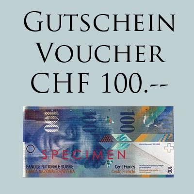 GESCHENK-GUTSCHEIN CHF 100.-- für Online Shop