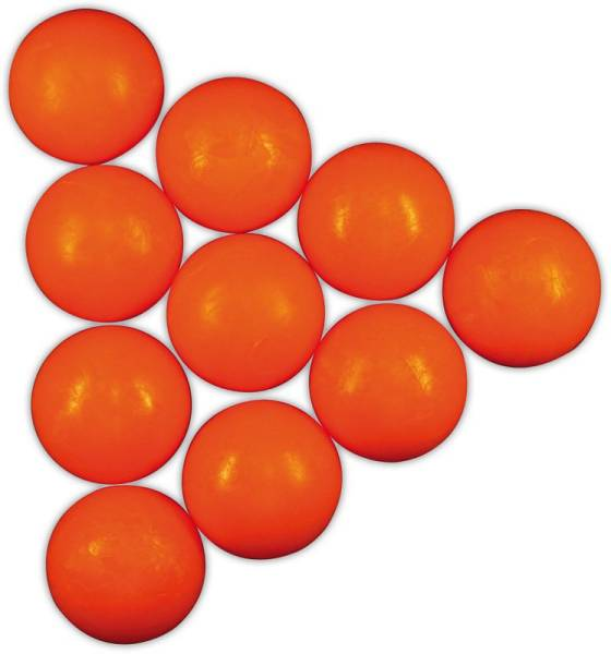 Standard-Töggeliball - 10 Stück - hart - orange