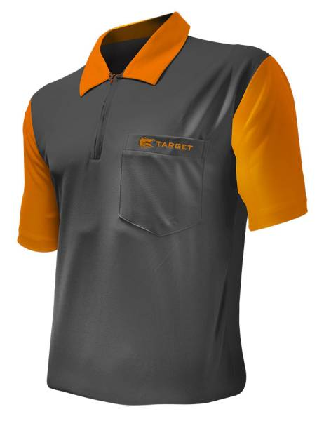 Target Coolplay 2 Dart Shirt - GREY & ORANGE