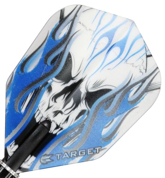 TARGET VISION PRO 100 - Flight - 3 Stück - Blue Skull Flame