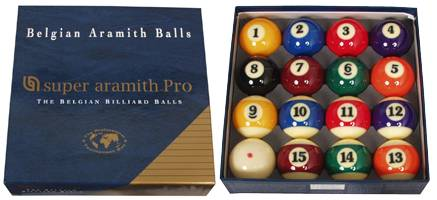 SUPER ARAMITH PRO - Set Billard Kugeln - Ø 57,2 mm
