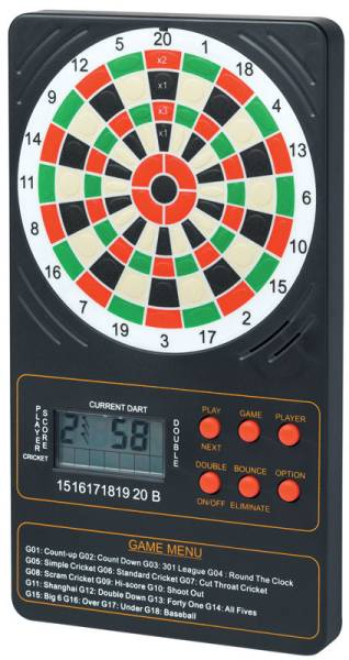 Winmau Electronic Touchpad Dart Scorer 18 Games 96 Options
