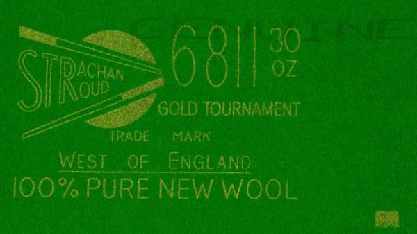 West of England 6811 - Snookertuch nur Spielfläche 12' - 400 x 193 cm