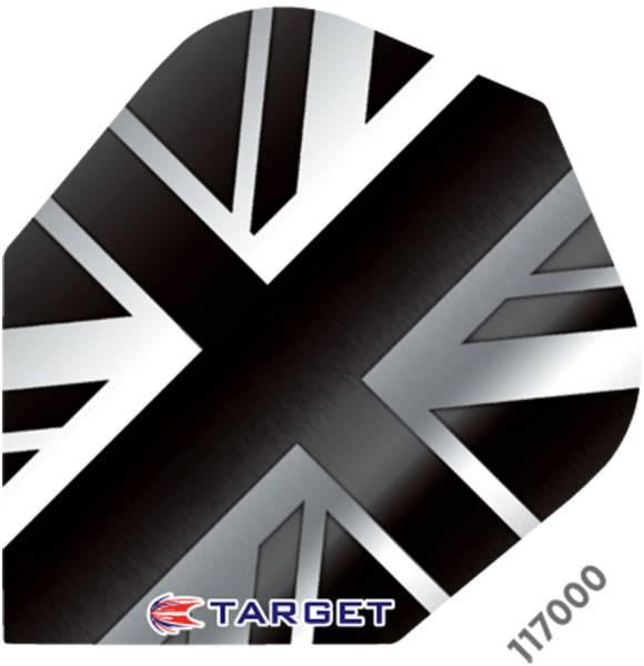 TARGET VISION PRO 100 - Flight - 3 Stück - Union Jack B/W