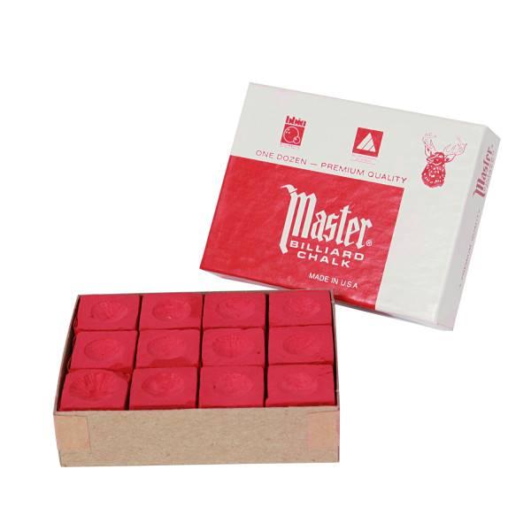 Billardkreide - MASTER ROT - Box à 12 Stk.