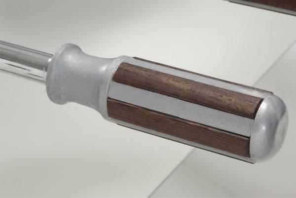 GARLANDO Palisanderholz-/Kunststoffgriff - 1 Stück