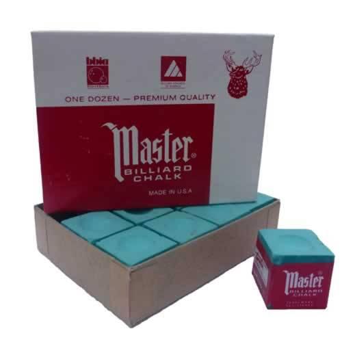 Billardkreide - MASTER GRÜN - Box à 12 Stk.
