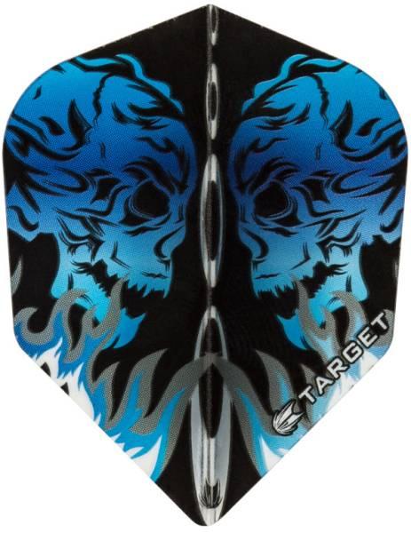 TARGET VISION PRO 100 - Flight - 3 Stück - Skull Flame Blue
