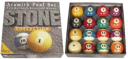 ARAMITH STONE - Set Billard Kugeln - Ø 57,2 mm