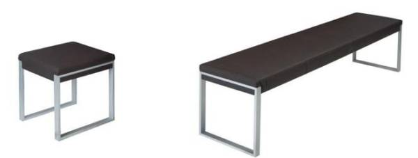 Fusiontable - Sitzbank & Hocker in 3 Farben
