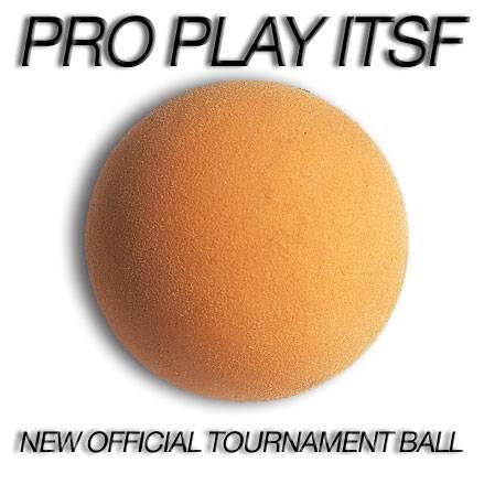 Ex-offiz. Turnier-Ball ITSF PRO PLAY, 34 mm, 25g