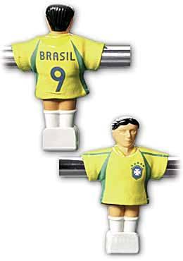 BRASILIEN - Trikot für Töggelikasten / Tischfussball - Set à 11 Stück