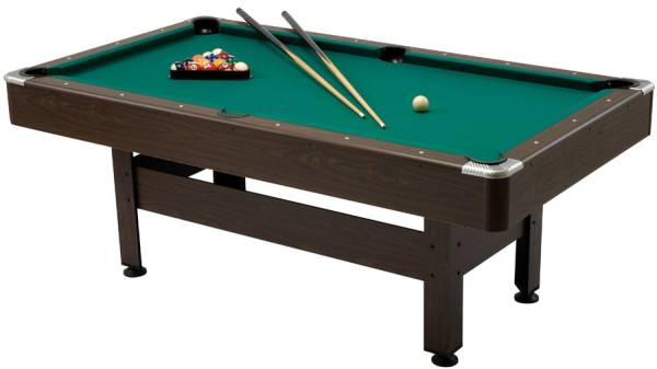 Pool table virginia size 6 feet playfield 180 x 90 cm for 10 foot pool table