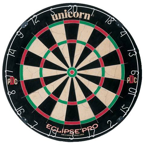 UNICORN ECLIPSE PRO - Offizielles Turnier-Dartboard der PDC