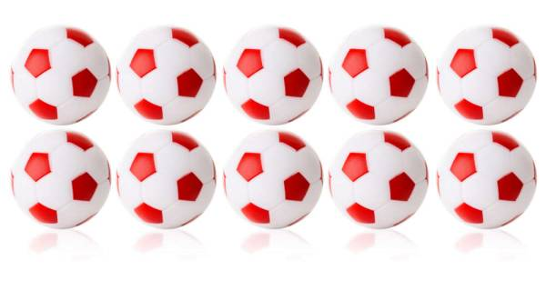 Robertson WINSPEED Tischfussball Bälle - weiss/rot - 10 Stk - Töggelibälle
