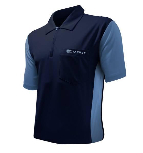Target Coolplay 3 Dart Shirt - NAVY & LIGHT BLUE