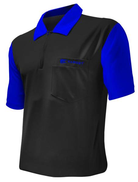 Target Coolplay 2 Dart Shirt - BLACK & BLUE