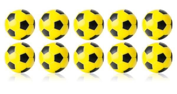 Robertson WINSPEED Tischfussball Bälle - Gelb/Schwarz - 10 Stk - Töggelibälle