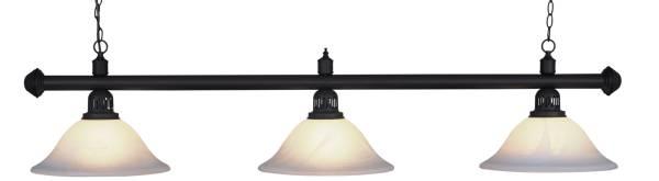 Billardlampe BUFFALO X3 GLAS SANDGESTRAHLT - 3-flammig