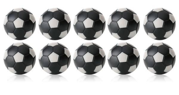 Robertson WINSPEED Tischfussball Bälle - Schwarz/Silber - 10 Stk - Töggelibälle