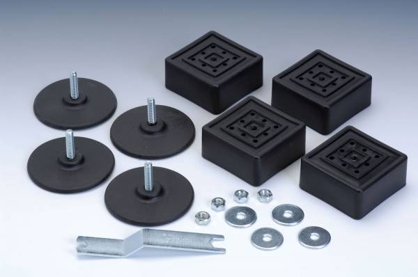 Garlando - Höhenverstellbare Füsse für 9 x 9 cm Metallbeine - Set à 4 Stk