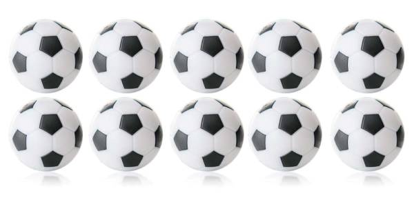 Robertson WINSPEED Tischfussball Bälle - weiss/schwarz - 10 Stk - Töggelibälle