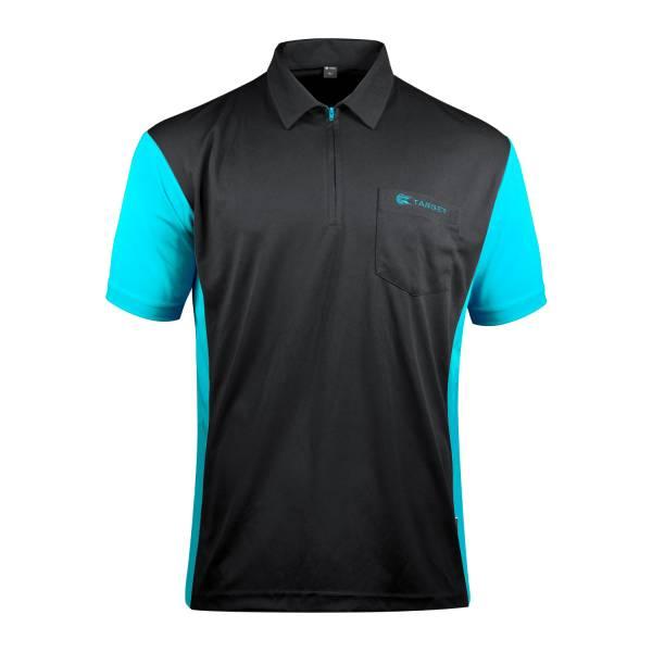 Target Coolplay 3 - Black & Aqua Blue - Dart Shirt