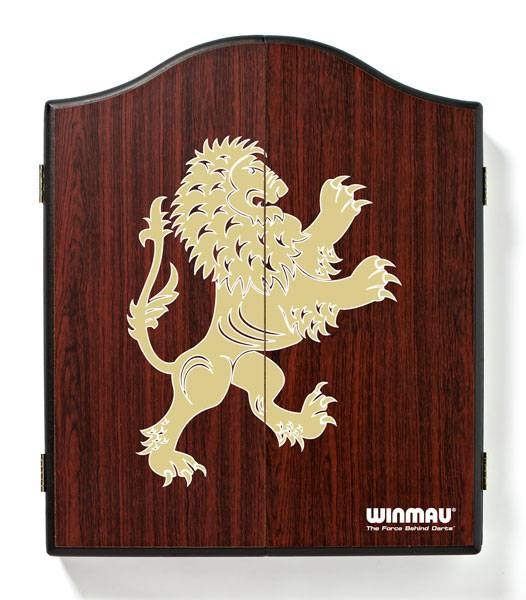WINMAU Dartboard Cabinet - English Lion (dunkel) - 4061