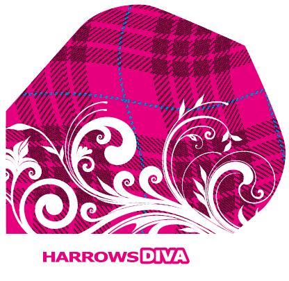 HARROWS DIVA 100 - Flight - 3 Stück