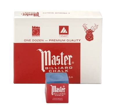 Billardkreide - MASTER BLAU - Box à 12 Stk.