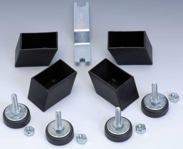 Garlando - Höhenverstellbare Füsse für Holzbeine - Set à 4 Stk