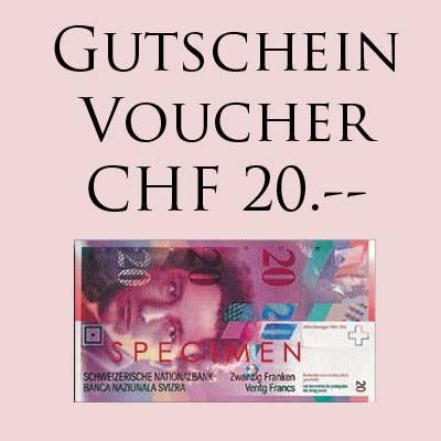GESCHENK-GUTSCHEIN CHF 20.-- für Online Shop