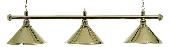 Billardlampe BUFFALO X3 MESSING - 3-flammig