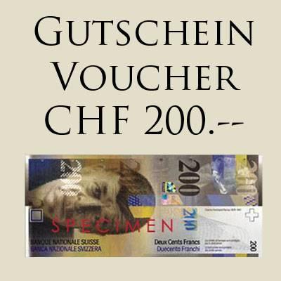 GESCHENK-GUTSCHEIN CHF 200.-- für Online Shop