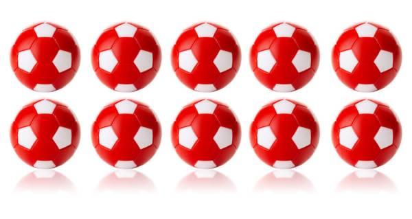 Robertson WINSPEED Tischfussball Bälle - rot/weiss - 10 Stk - Töggelibälle