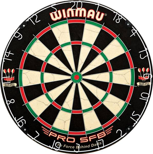 WINMAU PRO SFB - Dartboard für Steel- & Softdarts - 3015